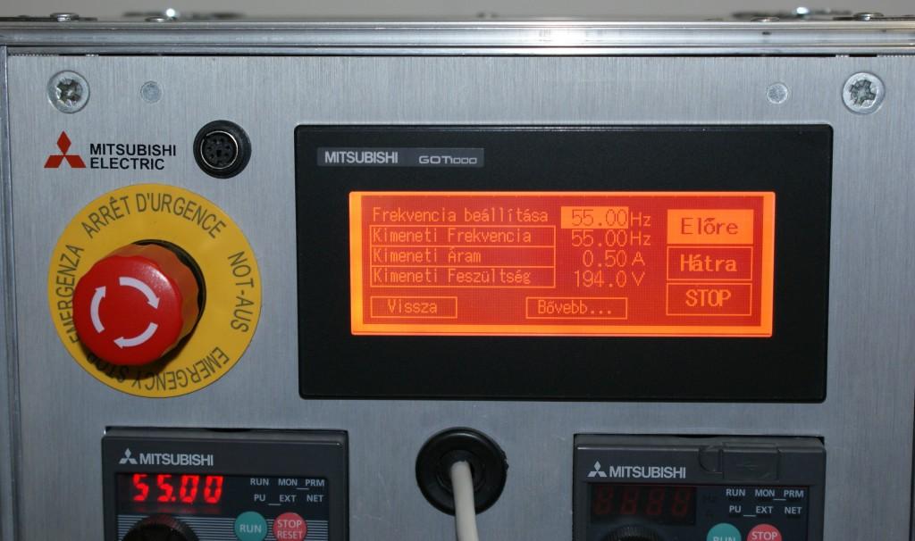 Mitsubishi frekvenciaváltó kijelző GOT1000 HMI Start