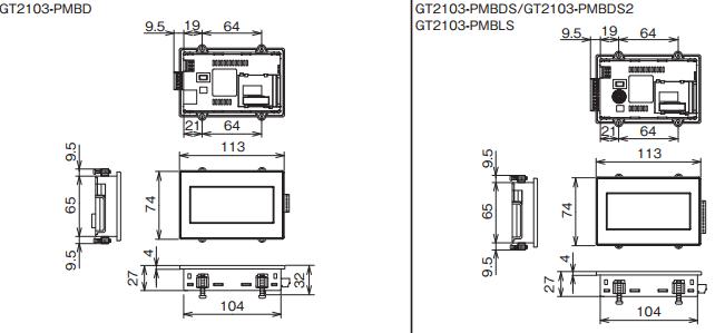 GT2103 mérete