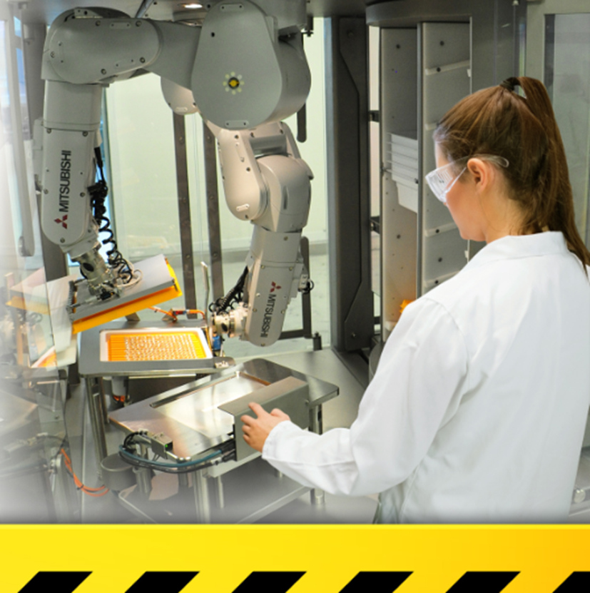Melfa Safe Plus a Mitsubishi kooperativ robotokhoz