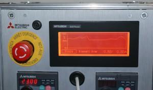 Mitsubishi frekvenciaváltó kijelző GOT1000 HMI grafikon